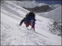 Iv�n Vallejo escalando