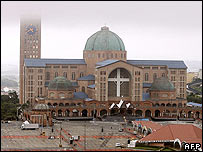 The sanctuary of Aparecida, north of Sao Paulo