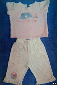 Image of the pyjamas Madeleine was wearing when she disappeared