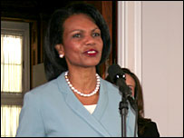 Condoleezza Rice opens the exhibition at the Meridian International Center
