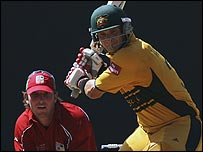 Australia last played Zimbabwe in a World Cup warm-up game in St Vincent