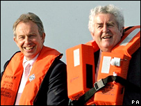 Tony Blair and Rhodri Morgan