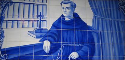 Mosaico con la imagen de Fray Galvao