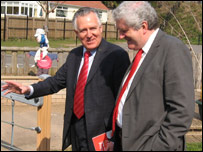 Peter Hain and Rhodri Morgan