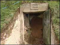 Tunnel door opens at Silbury Hill
