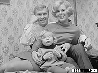 Moore with first wife Tina and daughter Roberta