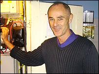 Donnachadh McCarthy in his home
