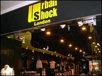 Urban Shock store in shopping mall, Shanghai