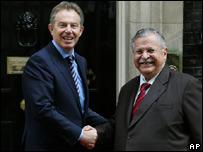 Tony Blair and Jalal Talabani