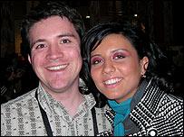 The BBC's Mark Savage and Georgian singer Sopho