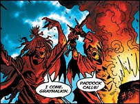 The witches, as seen in Classical Comics' Macbeth