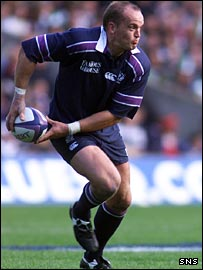 Gregor Townsend in action for Scotland