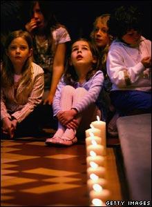 Children at the vigil