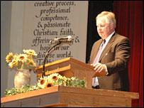 Loren Swartzendruber, president of Eastern Mennonite University