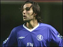 Nuno Morais in action for Chelsea