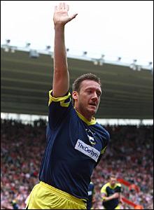 Steve Howard celebrates after scoring for Derby