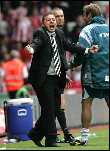 Derby County manager Billy Davies celebrates