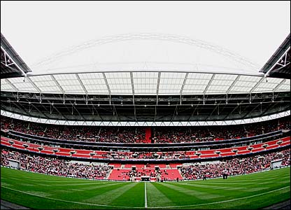 The new Wembley Stadium plays host to the FA Trophy final