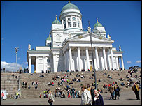The steps of the Senate in Helsinki