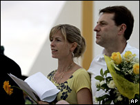 Kate and Gerry McCann after the service