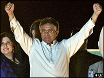 Pervez Musharraf in Islamabad, 12-5-2007