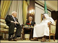 العاهل السعودي وتشيني