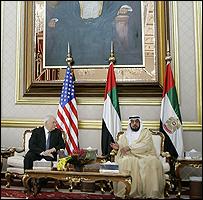 الرئيس الاماراتي وتشيني