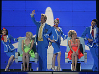 Scooch performing in the Eurovision song contest