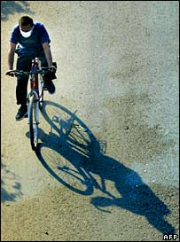Cyclist. Image: AFP/Getty