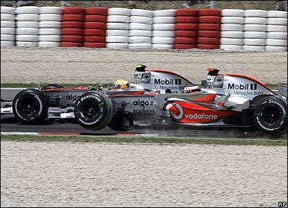 Lewis Hamilton passed Fernando Alonso