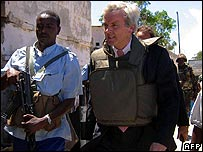 John Holmes arrives in Mogadishu