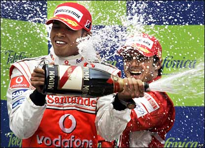 Lewis Hamilton and Felippe Massa
