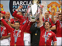Man Utd celebrate their ninth Premiership title triumph