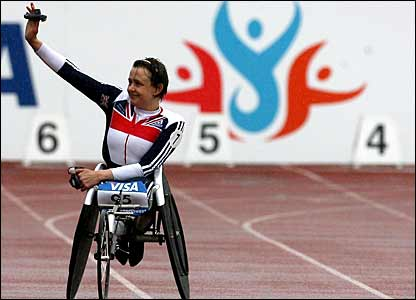 Tanni Grey-Thompson at the Parlaympic World Cup in Manchester