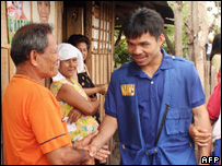 Manny Pacquiao campaigning in south Cotabato, Mindanao