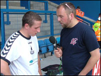 AFC Telford Utd striker Steve Foster talks to BBC Shropshire's Adam Green