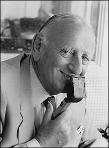 Brian Johnston pictured in 1981