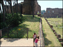 Stadium/Eastern part of the Palace of Domitian with tourists