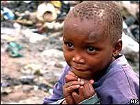 A Kenyan child in a Nairobi slum
