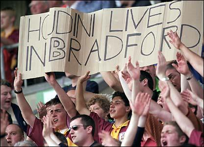 Bradford fans celebrate