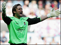 West Ham goalkeeper Robert Green