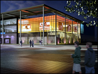 Artist's impression of learning centre