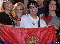 Marija Serifovic celebrates her win