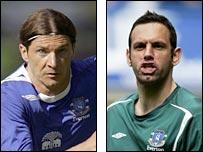 Everton duo Alessandro Pistone and Richard Wright