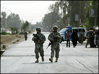 US troops on patrol in Baghdad (file image)