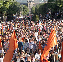 Basescu supporters in Iasi