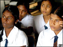 Schoolgirls in Sri Lanka