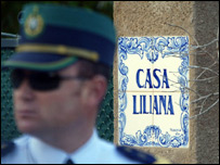 Casa Liliana villa, sealed off by police looking for Madeleine McCann