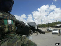 AU peacekeeper in Mogadishu