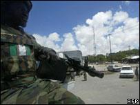 AU peacekeeper in Mogadishu